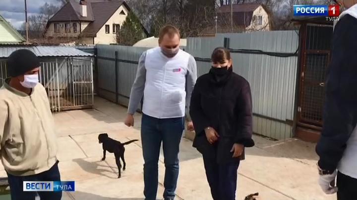Тульские активисты доставили корм в приют для животных