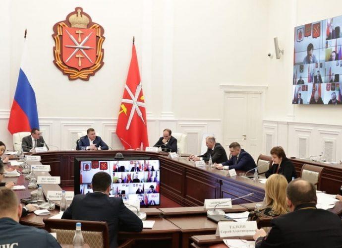 Заседание оперативного штаба по борьбе с распространением в Тульской области новой коронавирусной инфекции