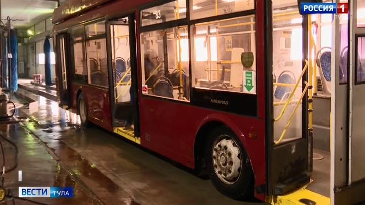 В Туле усиленно дезинфицируют общественный транспорт  и остановки