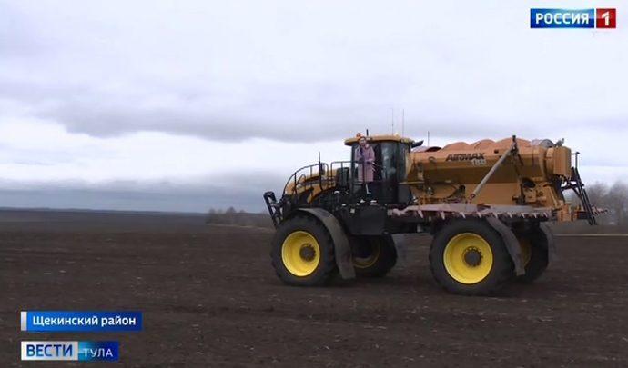 Тульские аграрии на месяц раньше приступили к посевной