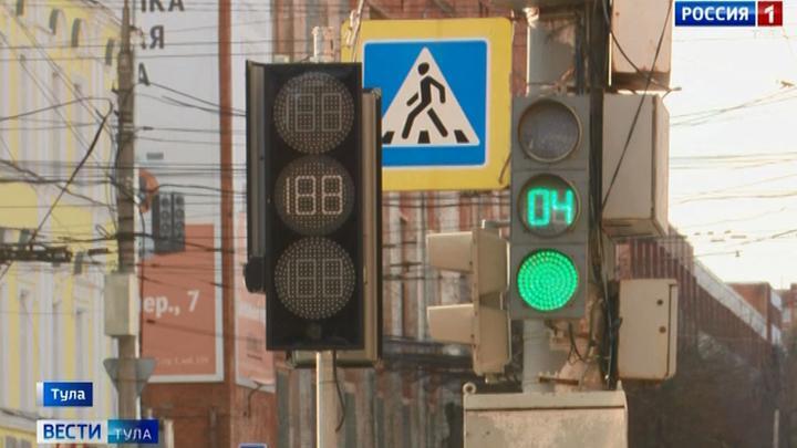 В Туле продолжается установка умных светофоров