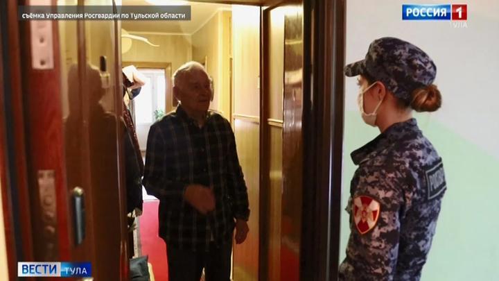 Тульские росгвардейцы пришли на помощь самоизолировавшимся