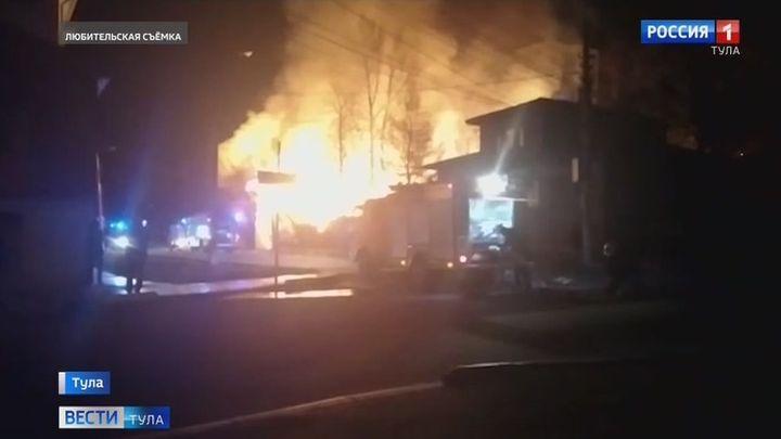 Ночью в Туле произошло два крупных пожара