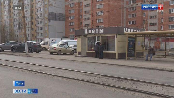 На улице Максима Горького в Туле полным ходом идёт ремонт