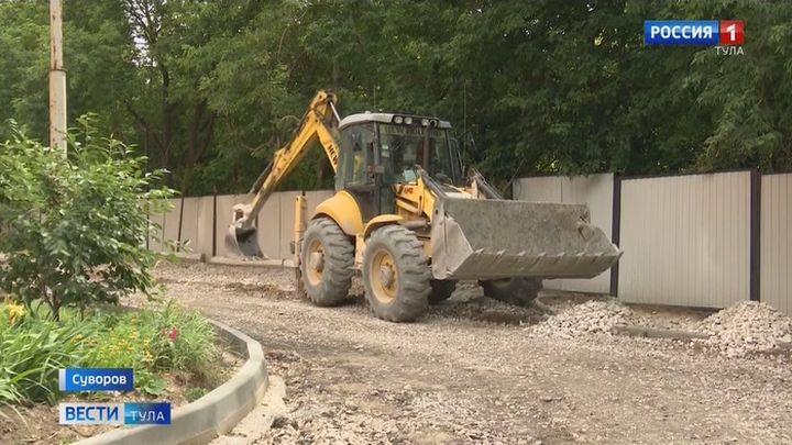 В Суворове дорожники приступили к ремонту дворов и проездов