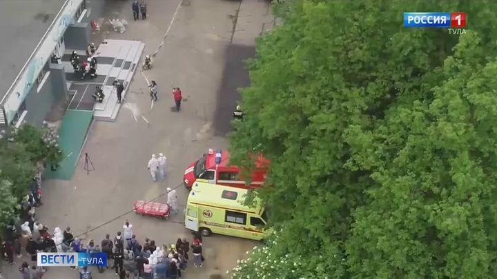 В коронавирусном госпитале на стадионе «Арсенал» прошли учения спасателей