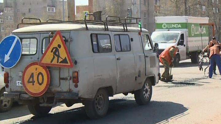 На тульских дорогах продолжается аварийно-восстановительный ремонт
