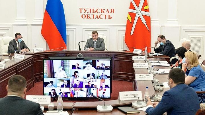 Оперативное совещание в правительстве Тульской области