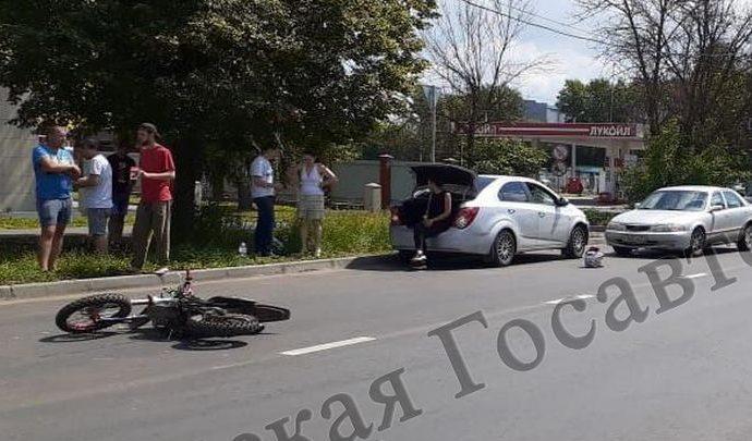 В Туле юный мотоциклист пострадал в ДТП