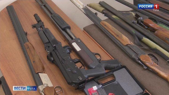 Туляки сдали в Росгвардию 260 единиц оружия, 5000 боеприпасов и 200 граммов пороха