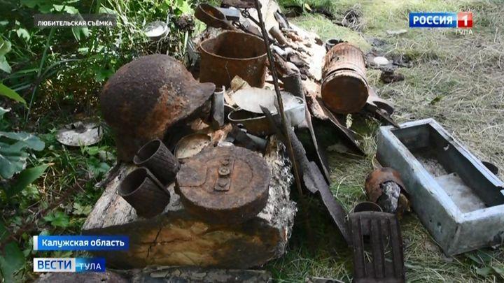 Поисковики «Тульского искателя» подняли останки трёх красноармейцев