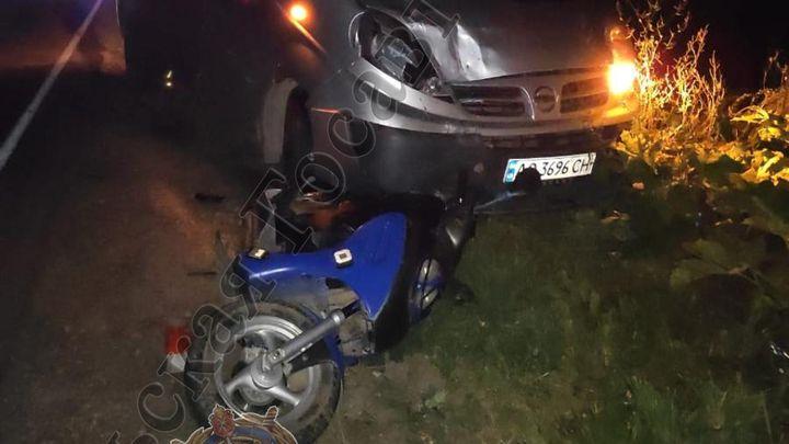 В Заокском районе в ДТП с участием мопеда погиб мужчина