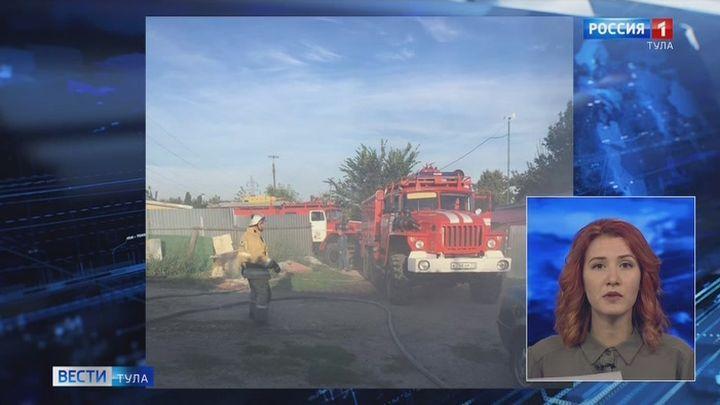 В Ефремове на пожаре в гараже погиб мужчина