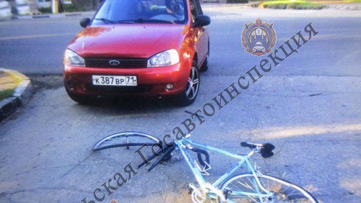 На Первомайской в Туле велосипедист попал под «Калину»