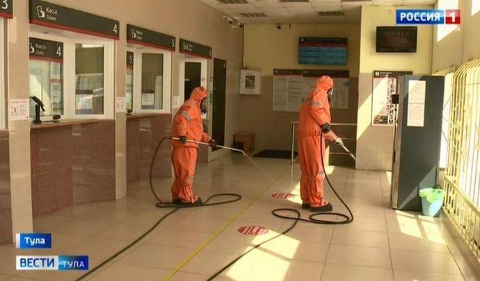 Как встречают коронавирус на Московском вокзале Тулы