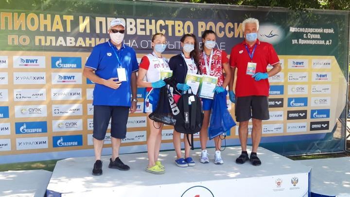 Тульские пловцы завоевали в Сукко полный комплект медалей