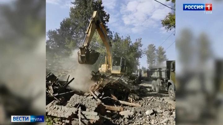 В Пролетарском округе Тулы сносят ветхие дома