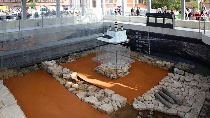 Археологическое окно в Тульском кремле