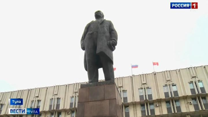 В Туле отремонтировали памятник Ленину