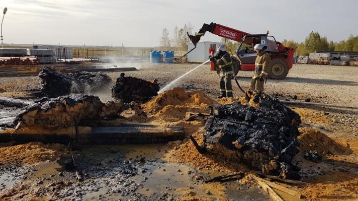 Пожар на свалке в Щекине добавил работы пожарным