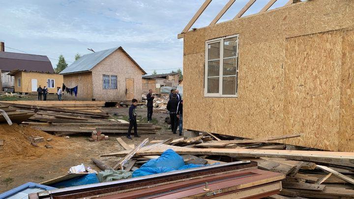 В Фёдоровке сносят незаконные цыганские постройки