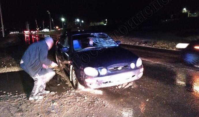 На Алексинском шоссе в Туле женщина попала под машину