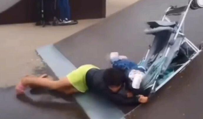 Шокирующее видео: полугодовалого ребёнка «покатали» в скейт-парке