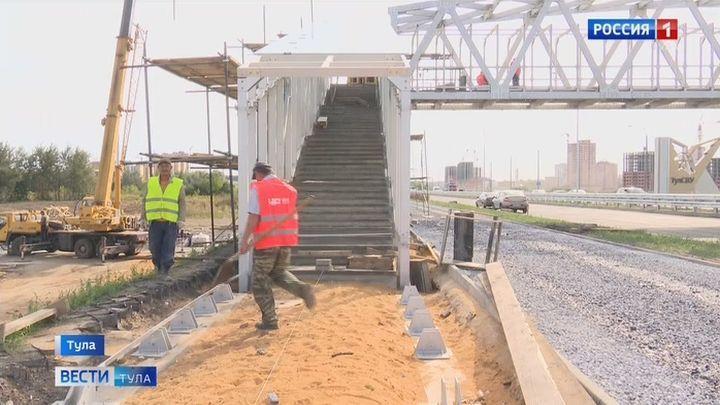 Строительство пешеходного моста через Восточный обвод почти завершено