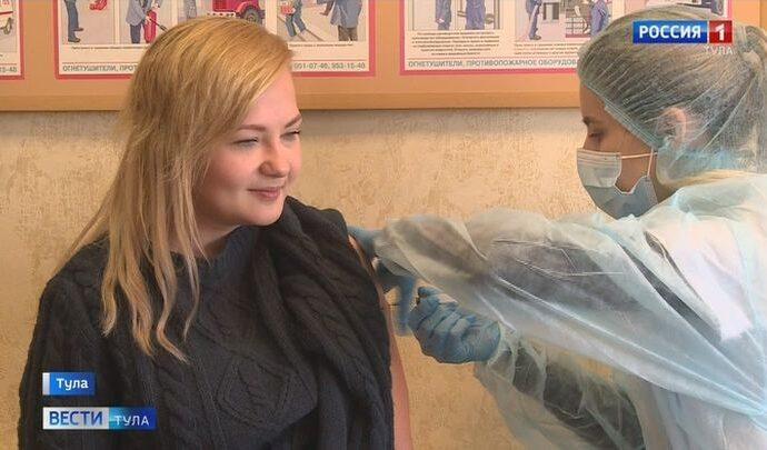 В редакции тульских «Вестей» прошла вакцинация против гриппа