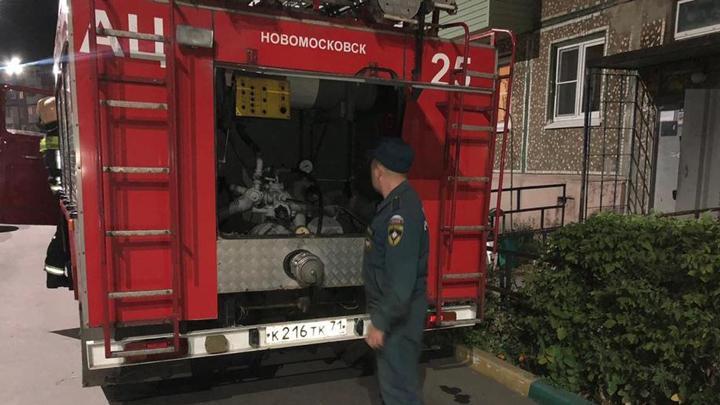Житель Новомосковска  пострадал при тушении пожара