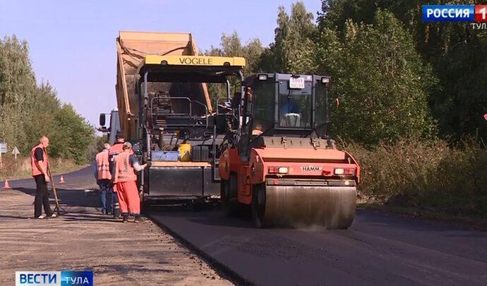 Завершился ремонт участка автодороги «Теплое-Киреевск»
