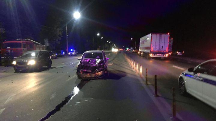 При столкновении четырёх машин в Туле пострадал ребёнок