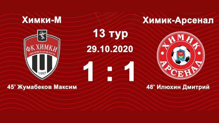 «Химик-Арсенал» сыграл вничью в Химках