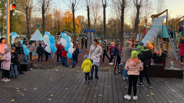 В Новомосковске появился новый детский городок