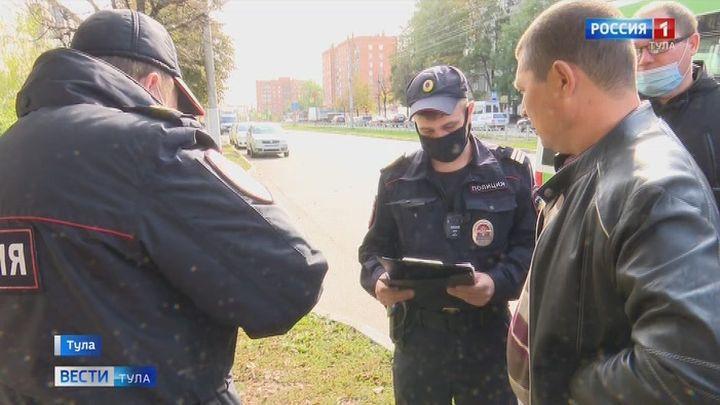 Тульские полицейские следят за соблюдением масочного режима