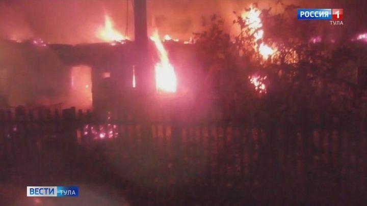 Пожары в Тульской области унесли жизни двоих людей