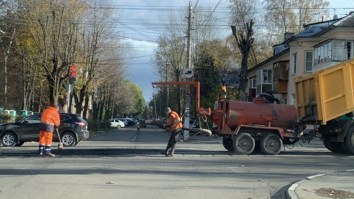 В Большой Туле продолжается ремонт дорог