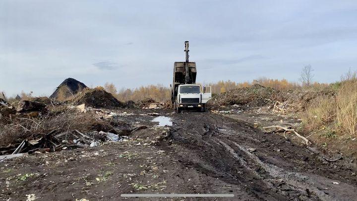 На закрытую свалку в Тульской области незаконно свозят отходы