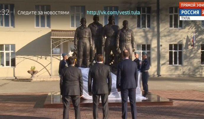 В Туле открыт памятник экипажу легендарной тридцатьчетвёрки