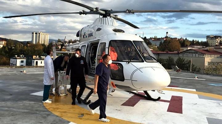 Жительницу Одоева с тяжёлой патологией сосудов мозга из Сочи в сосудистый центр Тульской областной больницы доставил вертолёт санитарной авиации