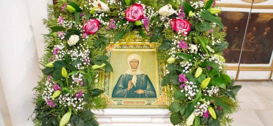 В Себино отпраздновали именины Матроны Московской