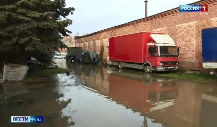 В Пролетарском округе Тулы случился потоп