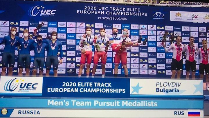 Туляк Александр Дубченко - чемпион Европы по велоспорту на треке