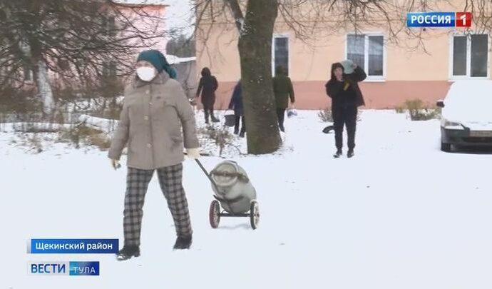 Жителям Социалистического воду в кране заменил талый снег в ведрах