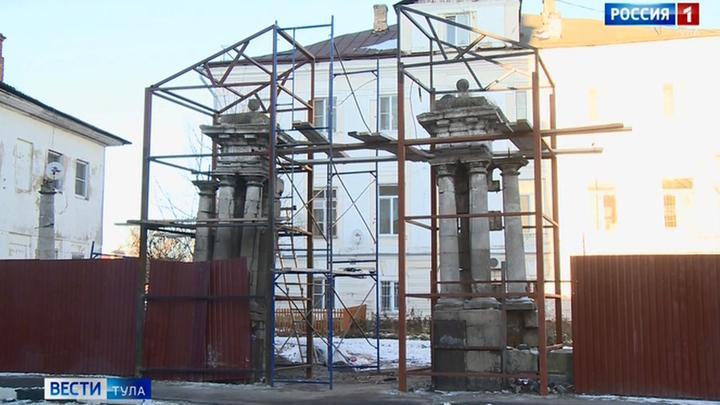 Ворота усадьбы Ливенцевых в Туле начали восстанавливать