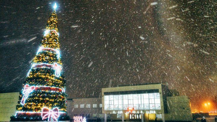 В Ефремове зажгли главную новогоднюю ёлку