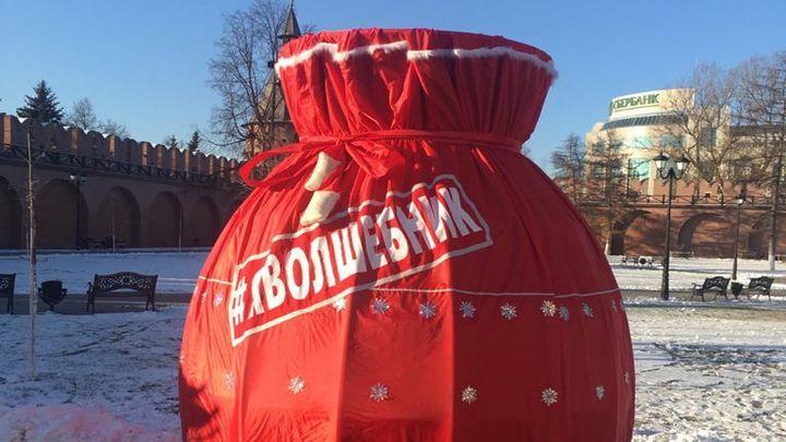 В Тульском кремле появился огромный мешок