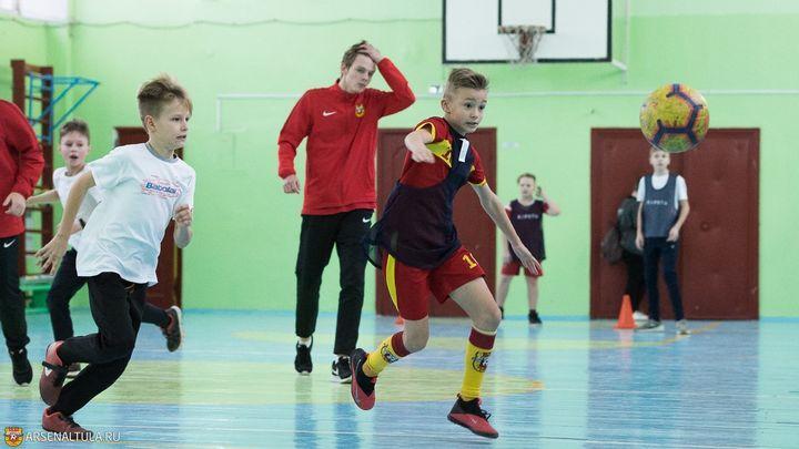 Мастер-класс для тульских школьников повели футболисты «Арсенала»