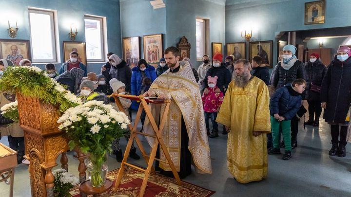 В Новомосковске прошёл молебен для детей-инвалидов