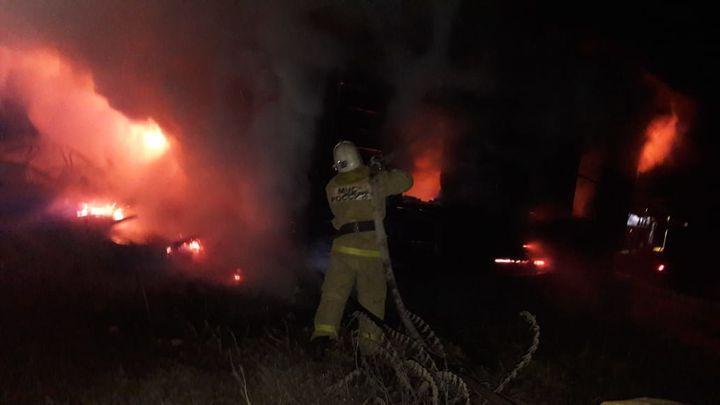 В горящем доме под Узловой погиб человек